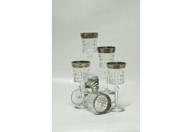 Bicchiere Acqua Platino Greca Neoclassico