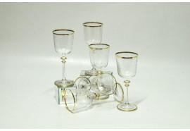 Bicchieri Floreali Bordo Oro