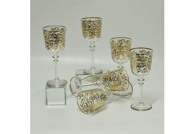 Bicchieri Floreali Tutto Oro